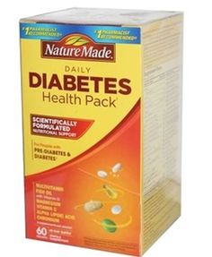 Nature Made Diabetes Health Pack, 60 Packets Health Nutritional Supplement #NatureMade