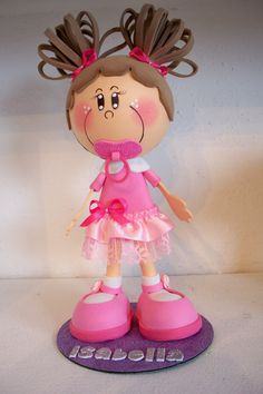 A doll made with craft foam