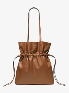 c1dbc0467e4 Salina Runway Medium French Calf Leather Tote | Michael Kors