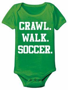 Crawl Walk SOCCER - Baby One Piece - KELLY GREEN - 6 Months Sports by Kid Teez,http://www.amazon.com/dp/B00G3OFALQ/ref=cm_sw_r_pi_dp_eFMztb1MC2XNKW7C