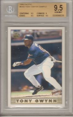 TONY GWYNN   1999 PACIFIC  #NNO SAMPLE SPANISH    BGS 9.5 GEM MT w 3-9.5's | Sports Mem, Cards & Fan Shop, Sports Trading Cards, Baseball Cards | eBay!
