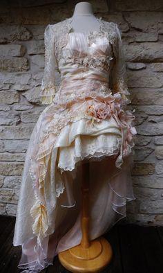 Handmade Peach Cream Victorian Wedding Mini by Arabescque