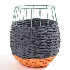 My design inspiration: Fluorescent Basket Orange Gray on Fab.
