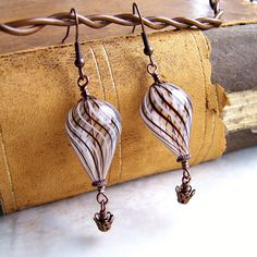 Hot Air Balloon Earrings - Steampunk Jewelry