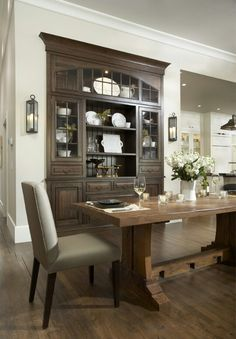 Built in china cabinet- beautiful! I would LOVE to have a built in china cabinet.