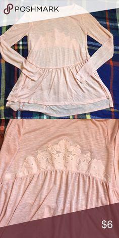 🎀LAST CHANCE 🎀 Lauren Conrad Pale Pink Lauren Conrad long sleeve top. Size xsmall LC Lauren Conrad Tops