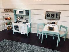 IKEA Duktig Kitchen makeover farmhouse playroom