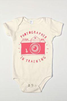 Photographer In Training Organic Baby One-Piece