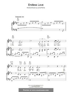 Endless Love by L. Richie - sheet music on MusicaNeo
