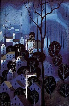 Image detail for -Eyvind Earle : Midnight Blue - Art Brokerage