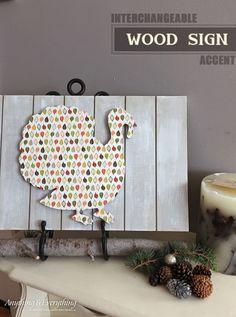 Wood Sign Thanksgiving Decoration