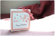 Gift bag Peach flower by SunnyJuneCreations on Etsy