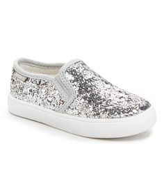 Look what I found on #zulily! Carter's Silver Sequin Tween Slip-On Sneaker by Carter's #zulilyfinds