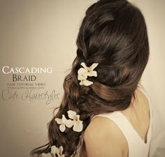 Hair Tutorial Video: Easy, curly, braided hairstyles. Messy side braid updos for medium long hair for prom, wedding, homecoming