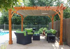 10 best pergola with canopy images in 2018 balcony landscaping rh pinterest com