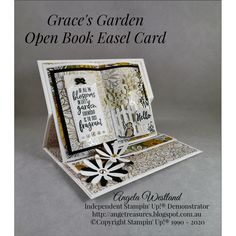 I just had to make one more of these Open Book Easel Cards, they have become very addictive. Fun Fold Cards, Pop Up Cards, Folded Cards, Cards For Friends, Friend Cards, Anna Griffin Cards, Shaped Cards, Beautiful Handmade Cards, Easel Cards