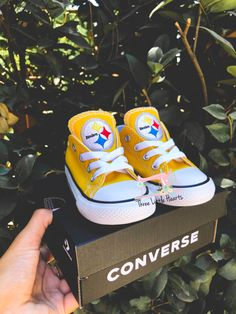 Football Girls, Steelers Football, Pittsburgh Steelers, Baby Shower Quotes, Baby Shower Gifts, Steelers Baby Clothes, Steelers Gifts, Football Baby Shower, Converse Tennis Shoes