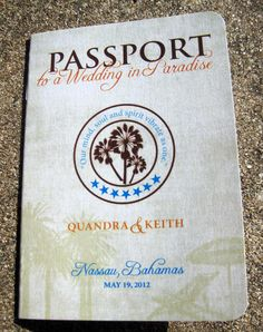 Passport Wedding Invitation