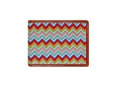 Zig Zag Needlepoint Bi-Fold Wallet   Smathers & Branson