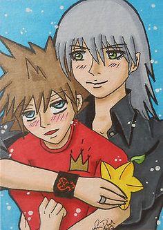 Kingdom hearts sora riku aceo card #fanart #anime #manga art yaoi boy's love shon,  View more on the LINK: http://www.zeppy.io/product/gb/2/111813573398/
