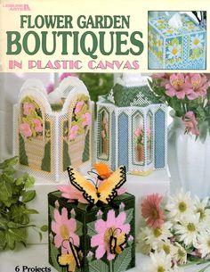 Flower Garden Boutiques Plastic Canvas Tissue by howtobooksandmore
