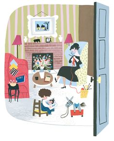 """Mary Blair's illustration for """"Baby's House,"""" 1950, gouache. (Courtesy Penguin Random House LLC / Eric Carle Museum of Picture Book Art)"""