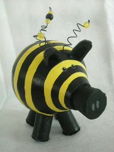 Bumblebee Piggy Bank. $40.00, via Etsy.