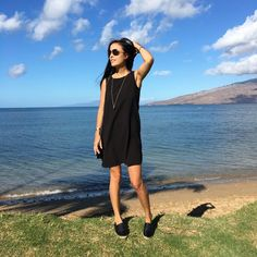 How to wear the same sundress from day to night while on vacation #sundress #dress #chanel #tomford #tiffany #vacation