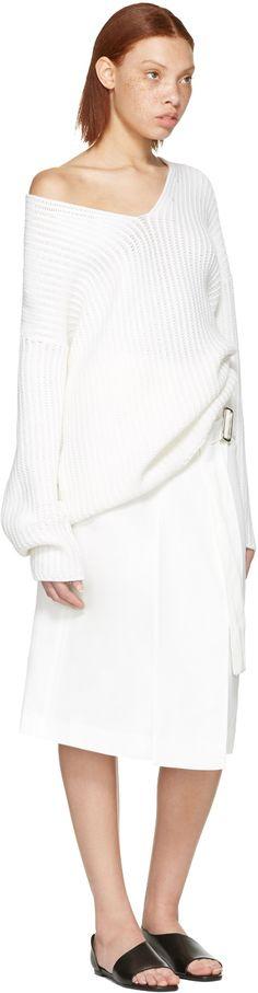 Calvin Klein Collection: White Labianca Skirt   SSENSE