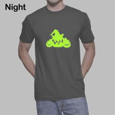 Glow In The Dark T-Shirt, Noctilucous T-shirt with Three Pumpkin by SignCharacter on Etsy