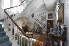 glin Dominic West and his wife forced to sell her ancestral castle - Telegraph Castle Hotels In Ireland, Castles In Ireland, Dominic West, Double Staircase, Entry Stairs, Home Room Design, Country Estate, Detached House, Property For Sale