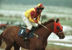 Davy Jones (The Monkees) rides on Digpast in the 4.20 of The Peach Amateur Riders Handicap at Lingfield Park in Surrey, England. Photo by Linda Eastman McCartney