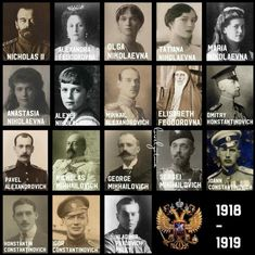 All members of the imperial family who were murdered between June 1918 and January Around 53 Romanov who lived in Russia when the revolution broke out, 35 fled and 18 were murdered. La Familia Romanov, Anastasia Romanov, House Of Romanov, Tsar Nicholas, Imperial Russia, Queen Victoria, Historical Photos, Vintage Photos, Portrait