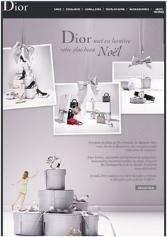 Dior_Newsletter de Noël Email Newsletters, Email Templates, Nouvel An, Email Marketing, Editorial, Projects To Try, Web Design, Banner, Design Inspiration
