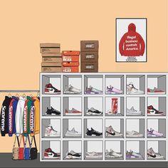 Sneakers Wallpaper, Shoes Wallpaper, Hype Wallpaper, Drawing Wallpaper, Fashion Wallpaper, Hypebeast Iphone Wallpaper, Sneaker Posters, Trill Art, Dope Cartoon Art