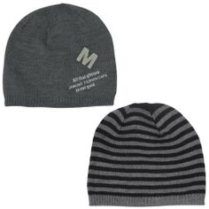Men s Reversible Stripes and Solid Color Acrylic Beanie Hat 26148f9379c2