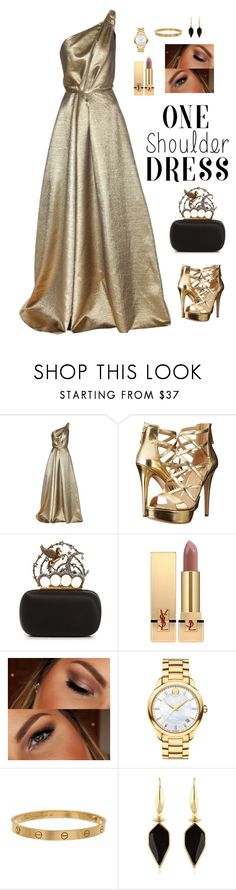 """Untitled #768"" by alwateenhosam ❤ liked on Polyvore featuring Carolina Herrera, GUESS, Alexander McQueen, Yves Saint Laurent, Urban Decay, Movado, Cartier and Isabel Marant"