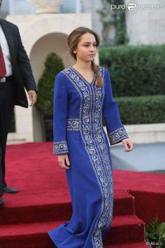 La princesse Iman de Jordanie, fille du roi Abdullah II et de la reine Rania, lors des célébrations de la Fête nationale jordanienne le 25 mai 2014, pour le 68e anniversaire de l'indépendance du royaume, au palais Raghadan à Amman.