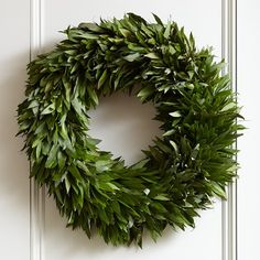 Bay leaf wreath from Williams Sonoma. Use the leaves for cooking all year.