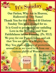 Blessed Sunday Morning, Sunday Prayer, Sunday Morning Quotes, Good Morning Friends Quotes, Happy Sunday Quotes, Good Morning Prayer, Good Morning My Love, Morning Blessings, Morning Prayers