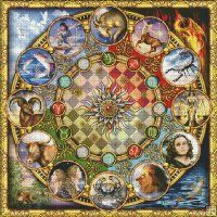 Zodiac Mandala [MARCHETTI16] - $12.35 : Heaven And Earth Designs, cross stitch, cross stitch patterns, counted cross stitch, christmas stock...