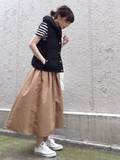 ari☆さんの「ショールカラー ダウンベスト◆(FRAMeWORK|フレームワーク)」を使ったコーディネート