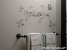 Wall Decals add a beautiful final touch