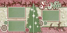 Christmas scrapbook pages, just add your photos. Easy scrapbooking for anyone! Quick pages are the way to go to scrapbook your memories! Scrapbook Layout Sketches, Scrapbook Templates, Scrapbook Designs, Scrapbooking Layouts, Christmas Scrapbook Layouts, Birthday Scrapbook, Christmas Layout, Baby Scrapbook, Scrapbook Frames