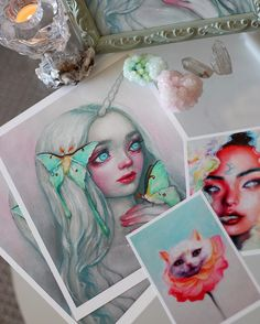 "Per popular request, ""Luna"" prints are now available in a super limited edition of 10. She's signed, dated, numbered, and printed on luxurious fine art paper + comes with a free surprise mini print! (link in bio)  #oilpainting #print #popsurrealism..."