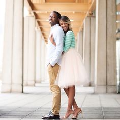 Blush tulle skirt, engagement photoshoot, couple session, street style, bride to be, weddingbells