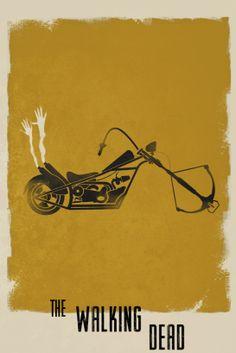 Daryl, The Walking Dead (2010–) - Minimal TV Poster by Harshness ~ #minimaltvposter #alternativetvposter #harshness
