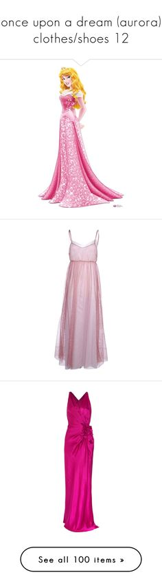 """once upon a dream (aurora) clothes/shoes 12"" by srta-sr ❤ liked on Polyvore featuring smrsleeping, disney, sleeping beauty, aurora, fillers, disney princesses, dresses, long dress, gown and garnet"