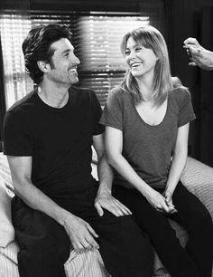 Grey's anatomy Greys Anatomy Couples, Grays Anatomy Tv, Grey Anatomy Quotes, Grey's Anatomy, Derek Shepherd, Ellen Pompeo, Patrick Dempsey, Meredith Grey, Sarah Drew