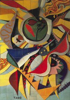 """""""Wall of the Sun"""" by Taro Okamoto."""